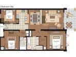 Villa 203 floor plan