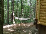 Hammock in the shade perfect for 1 or 2. Seasonal Sinking Creek in yard flows down to Sinking Creek