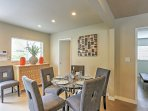 Gather with your loved ones at this lovely dining room table.