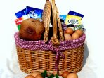 Breakfast Basket per booking, ample for your stay includes milk, butter, bread, eggs, cereals etc