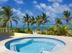Hot Tub on ground level overlooks the ocean