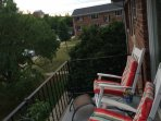 There are rocking chairs available on our balcony