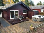 rear of property with hottub