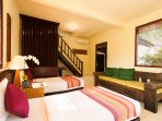 Twin Bed Downstairs Lumbung Family
