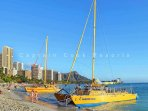 Enjoy an afternoon or sunset cruise from Waikiki Beach