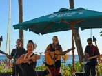 Live music on the beach at Dukes