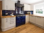 Kitchen with Aga range