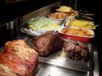 Sunday Lunch fresh cooked Rump beef, Norfolk Pork fresh Vegetables  lovely Desserts