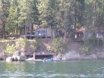 Our Lakehome #9 on right and #8 on left share the dock and all free watercraft.