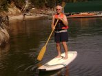 The 3 stand-up paddle boards fit ages 7 to 70.