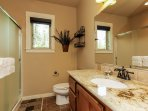 Crane Shores Chalet - bathroom with standalone shower