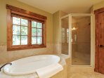 Discovery Chalet 256 - spa tub and standalone shower