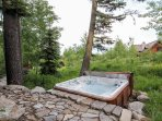 Discovery Chalet 256 - Hot tub backyard view