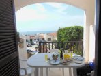 Terrace area is lovely for breakfast, lunch & dinner!