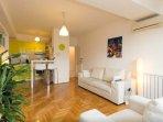 Living room - hardwood floor across