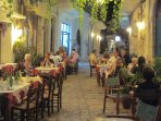 A popular local taverna, Geronymos on Market Place, Panormo - just a few steps from Villa Kamares