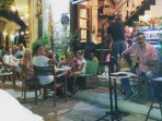 Traditional live Cretan music at Elia Bar located outside Villa Kamares