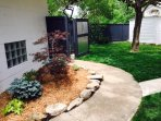 Landscaping and lawn care are paid for by the property owner.