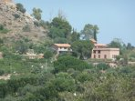 View of the villa and the Natural reserve of Monte Catalfano