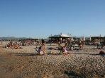 Vista playa y Chiringuito