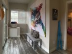 Breezeway to kids room and lower patio/private hot tub