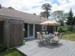 Another view of Deck with outdoor shower, Dining and gas barbecue- enclosed hot and cold - 26 Ridgevale Road South ...