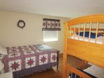 Bedroom #3 with a Double bed and set of twin bunks - 26 Ridgevale Road South Harwich Cape Cod New England Vacation ...