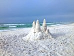 Build a sandcastle at Watersound Beach