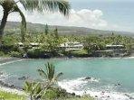 Heeia Bay sandwiched between Kanaloa and Sheraton Resort
