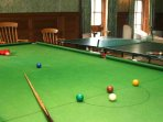 The games room is very well stocked, with snooker and table tennis