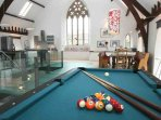 Space for a bit of fun in the living area, with a pool table