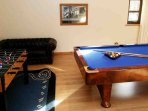 The games room is perfect for children and adults alike