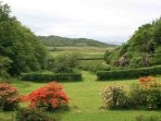 View of garden to sea beyond