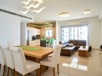 Beautifully spaced living area with top of the line furnishings and luxurious design