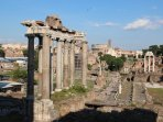 The center of Rome can be reached with the local trains in about 22 to 30 minutes