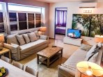 Family Room with a Smart TV for Streaming-only