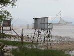 Les carrelets au bord de la Gironde
