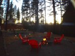 Campfire at sunset.  Don't you wish you could move here?  You can!