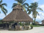 Common area Palapa with grill and bathrooms