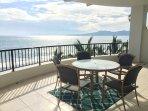 Ocean view outdoor dining room