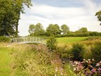 Enjoy fresh air, peace and tranquility beside the Ceri River in the 3 acres of grounds