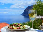 Enjoy fantastic scenery with a glass of wine!