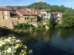 The river in Saint-Antonin-Noble-Val