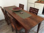 Dining table for up to 6 people (spare chairs available)