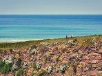 a beautiful sea and coastal shot off Fistral Beach