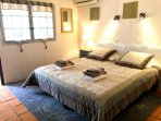 Bedroom 6: accessed from lower terrace, kingbed or twin option. Private ensuite: bath & shower cabin