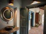 The bathroom for the courtyard bathroom