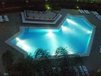 The pool in the evening from the Terrace