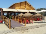 Local beach restaurant 80 yards from the apartment