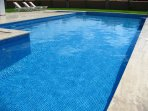 The villa has a 14 metre long main pool, just for your private use.